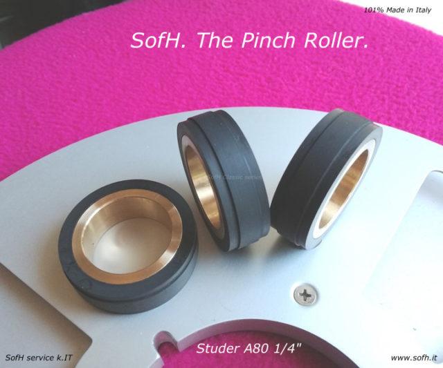 """Studer A80 1/4"""" Pinch Roller"""