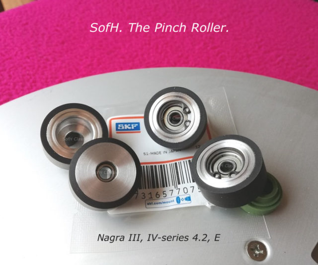 Nagra pinch roller black rubber