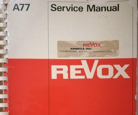 Revox A77 SM